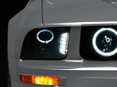 $267.99 • Buy Raxiom Smoked Projector Headlights LED Halo Fits Ford Mustang GT And V6 05-09