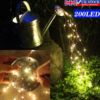 200LED 10Branch Waterfall Tree Vine String Fairy Lights Watering Can Garden DIY • 10.49£