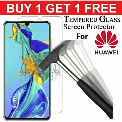 Tempered Glass Screen Protector For Huawei P40 P30 P20 Lite Pro P Smart Mate 20 • 3.90£