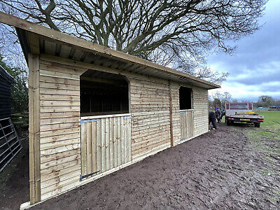 24x12 Stable Block. Mobile Stable- Horse Alpaca Sheep Stable Shelter  • 1,950£
