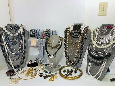 $ CDN18.82 • Buy Huge Vintage To Now Jewelry Lot Some Signed  All Wearable Pieces 3 Lbs +