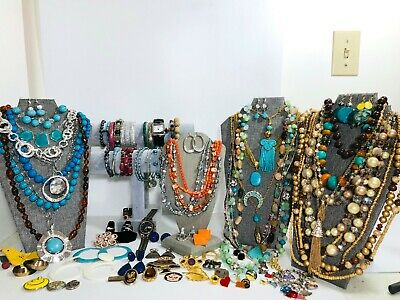$ CDN23.22 • Buy Huge Vintage To Now Jewelry Lot Some Signed  All Wearable Pieces 3 Lbs +
