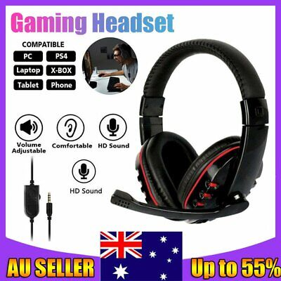 AU14.89 • Buy 3.5mm Gaming Headset MIC Headphones Surround For PC Mac Laptop PS4 Xbox One AU
