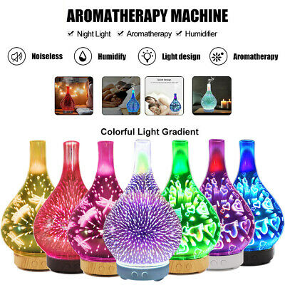 AU44.99 • Buy Electric Aromatherapy Diffuser 3D Aroma Essential Oils Ultrasonic Air Humidifier