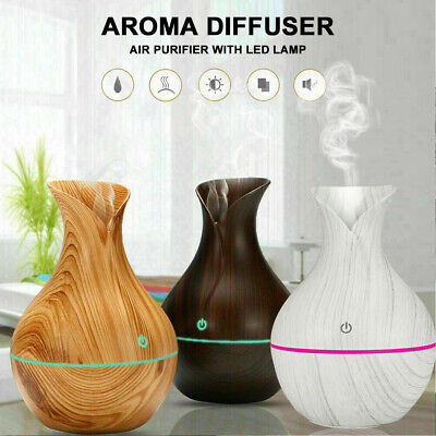 AU16.59 • Buy Aroma Essential Oil Diffuser Wood Grain Ultrasonic Aromatherapy Humidifier