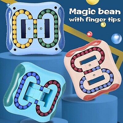 £9.11 • Buy Rotating Magic Bean Cube Toy Kids Stress Relief Intelligence Developm Finger Toy