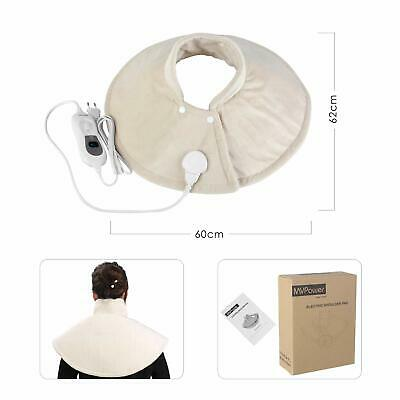 £19.99 • Buy Electric Heating Pad Neck Shoulder Back Muscle Heat Therapy Wrap Body Warmming