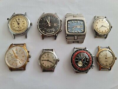 Vintage Automatic & Manual Wind Watches Spares Or Repair  • 155£