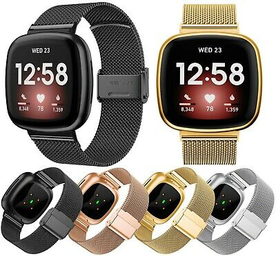 $ CDN10.20 • Buy For Fitbit Versa 3 Versa Sense Milanese Stainless Steel Straps Band Replacement