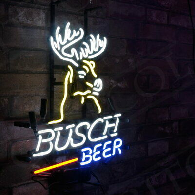 $ CDN148.76 • Buy  Busch Beer  Real Glass Store Neon Sign Artwork Handmade Decor Gift