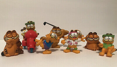 Vintage Lot Of  8 Garfield Toy Figures • 3.62£