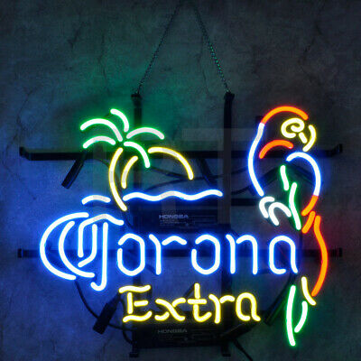 $ CDN148.76 • Buy Corona Extra Beer Store Wall Real Glass Artwork Display Neon Sign Decor Handmade