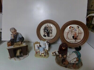 $ CDN43.94 • Buy Lot Of 3 Norman Rockwell Collector's Club Porcelain Figurine And Plates + Bonus