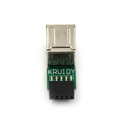 AU11.12 • Buy 9Pin Motherboard To Double Layer 2 Port USB2.0 A Female Internal Header Ada Lu