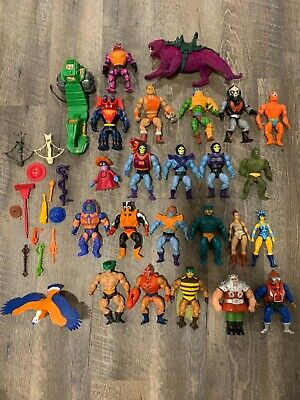 $81 • Buy Masters Of The Universe Vintage Lot Of Figures He-Man Skeletor Weapons Vehicle