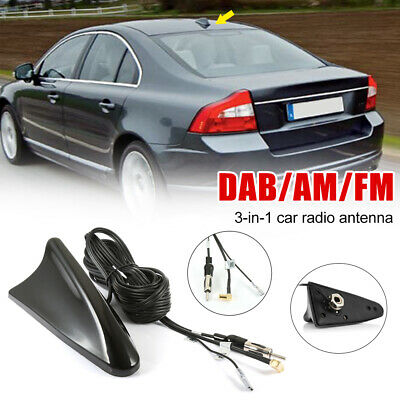 £15.99 • Buy DAB Car Aerial Antenna SMB Adapter AM/FM Shark Fin Roof Mount Aerial For Kenwood