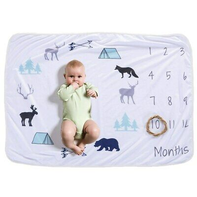 Newborn's Baby Monthly Growth Soft Blankets Photography Prop Background PR • 9.30£
