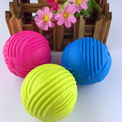 £4.59 • Buy Indestructible Solid Rubber Ball Pet Cat Dog Training Chew Play Fetch Bit UN