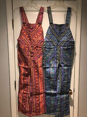 AU113.50 • Buy Vintage Fly's Multicolored Overalls NOS W Tags 70's Sz 16 Blues OR Sz 14 Pinks