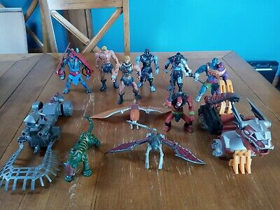 $99.99 • Buy Masters Of The Universe 200X Lot Two Bad He-man Skeletor Vehicles 2002 Figures