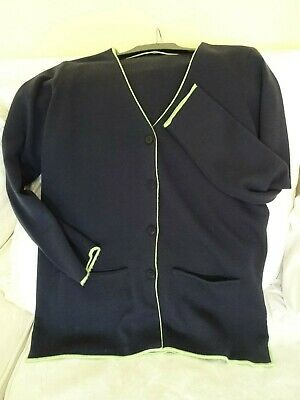 Cotswold Collections Navy Cardigan Longline Small Merino Wool Mix • 5.50£