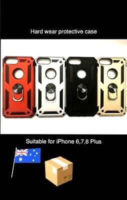 AU14.99 • Buy Shockproof Case Cover With Magnetic 360 Ring Holder For IPhone XS Max 6 7 8 Plus