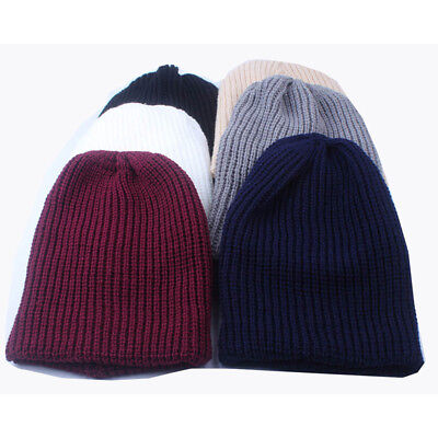 £3.03 • Buy Knit Beanie Winter Oversize Baggy Hat Ski Chic Slouch Cap Unisex Hats SG