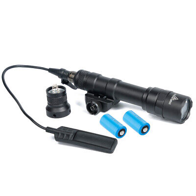 $45.50 • Buy Tactical Picatinny Flashlight M600b Scout Light With Battery And Pressure Switch