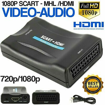£6.59 • Buy SCART To HDMI Composite 1080P Video Scaler Converter Audio Adapter For DVD TV