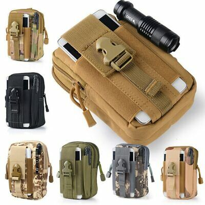 AU10.99 • Buy Men Tactical Pouch Belt Small Pocket Military Travel Camping Waist Pack Bag