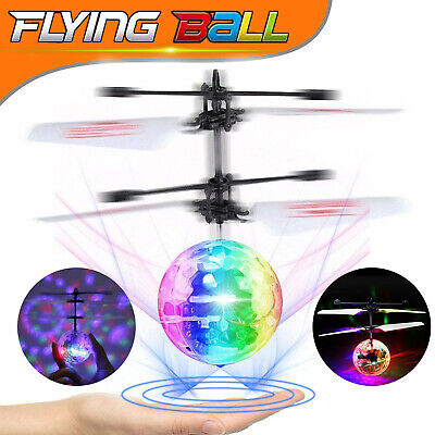 £3.49 • Buy Electric UFO Light Flying Ball Magic Flash  Helicopter RC Sensor Drone Kids Toys