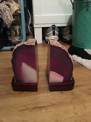 Pair Of Crystal Bookends • 30£