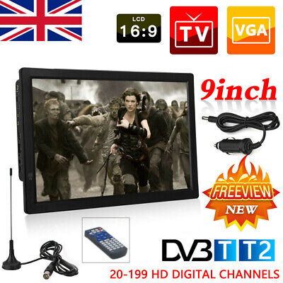 £66.49 • Buy UK 9  Inch Portable 1080P Ultra-HD TV Freeview HDMI Digital Television Player