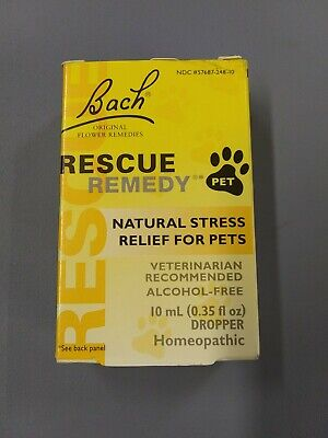 Bach Pet Rescue Remedy Natural Stress Relief For Dogs And Cats 10 ML • 7.20£