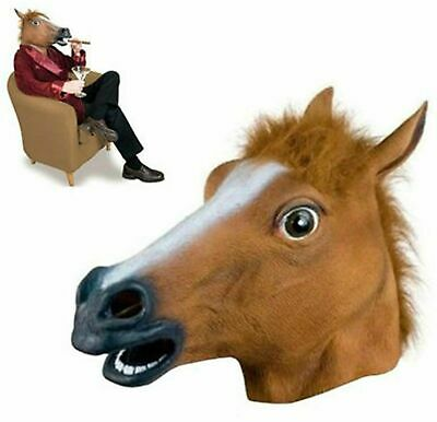 £6.89 • Buy Horse Head Mask Rubber Panto Cosplay Halloween Adult Costume Fancy Dress Party