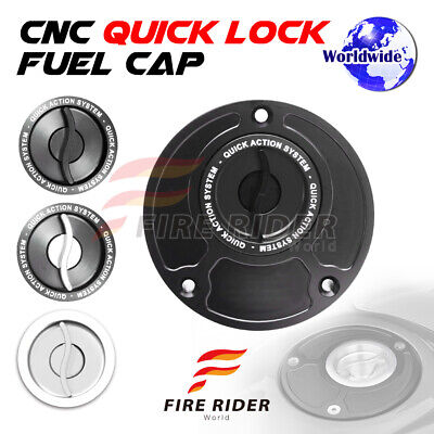 $47.88 • Buy Silver Quick Lock Fuel Cap 1 Pc For Yamaha YZF R6 99-13 04 05 06 07 08 09 10