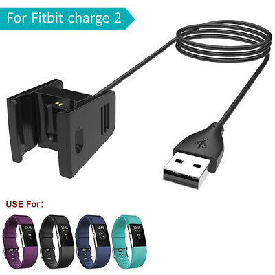 AU5.60 • Buy USB Charging Cable Charger Lead For Fitbit CHARGE 2 Wristbands Fitness -Tracker