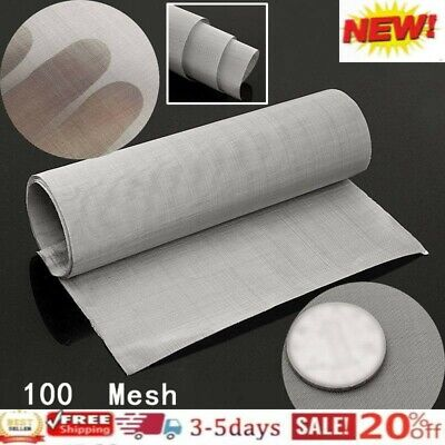 £9.30 • Buy Stainless Steel 35*12inch 100Micron Mesh Woven Wire Cloth Screen Filter Sheet UK