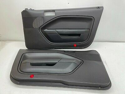 $265 • Buy 2005-2009 OEM Ford Mustang Charcoal Black Base Front Door Panels |T272