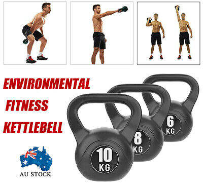 AU28.99 • Buy AU 6KG-10KG Kettlebell - Home Gym Kettlebell Weight Fitness Exercises Energetics
