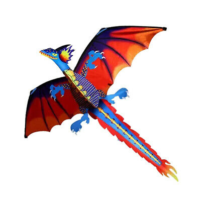 AU19.45 • Buy 3D Dragon Kite For Kids Adults Toy Fun Park Beach Game With Flying Tools