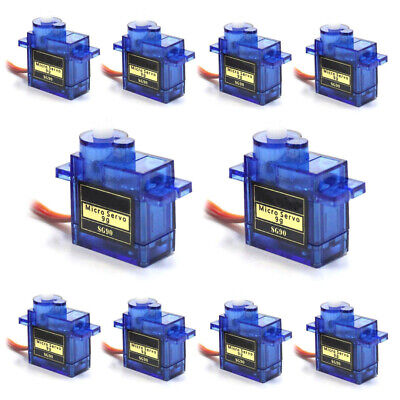 AU15.46 • Buy 10 X  9G SG90 Micro Servo Motor Set For RC Robot Helicopter Airplane Car Boat