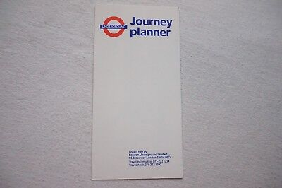 April 1990 London Underground Pocket Map Tube Map Ref 490 VGC • 20£