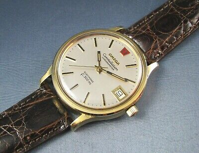 AU1610.68 • Buy Vintage Omega Constellation F300Hz Tuning Fork Heavy Gold Plate Mens Watch 1973