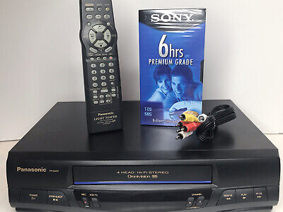 AU98.32 • Buy Panasonic PV-9450 VCR Omnivision VHS Player Tested & Working W/ Remote Cables