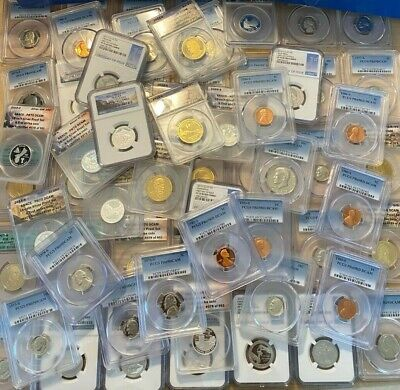 AU78.64 • Buy PCGS NGC ANACS ICG Slabbed GRADED US Proof Coin Hoard 5 SLAB LOT US COINS