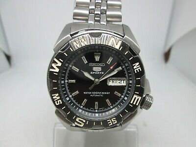 $ CDN12.54 • Buy Seiko 5sports 7s36-00y0 100m Stainless Steel Steel Automatic Mens Diver Watch