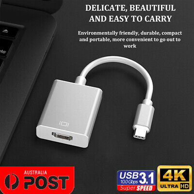AU7.95 • Buy Type C USB3.1 Male To HDMI Female HDTV 1080p Adapter Cable For Macbook