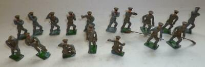 GROUP OF HEYDE OR SIMILAR VINTAGE LEAD BRITISH INFANTRY SOLDIERS,  - 45mm SCALE • 6£
