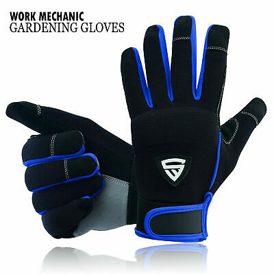 £5.99 • Buy Safety Work Gloves Heavy Duty Mechanic Gardening Builders Cut Hand Protection UK